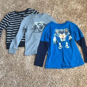 3 long-sleeved boy shirts, Jumping Beans, size 6
